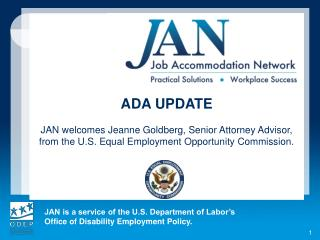 See earlier JAN webcasts reviewing recent ADA case law: