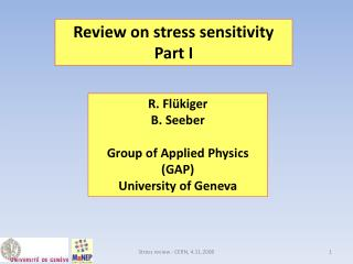 Review on stress sensitivity Part I