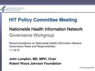 HIT Policy Committee Meeting