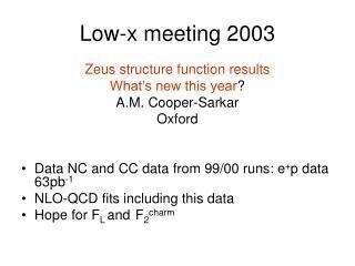 Low-x meeting 2003