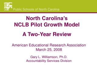 American Educational Research Association March 25, 2008 Gary L. Williamson, Ph.D.