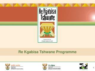 Re Kgabisa Tshwane Programme