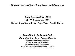 Open Access - A Recast