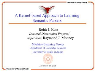 A Kernel-based Approach to Learning Semantic Parsers