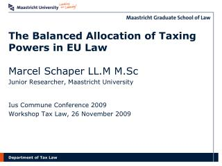 The Balanced Allocation of Taxing Powers in EU Law