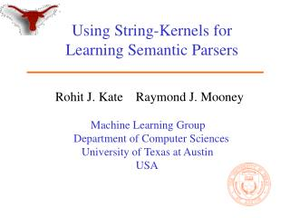 Using String-Kernels for Learning Semantic Parsers