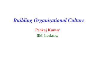 Building Organizational Culture