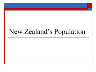 New Zealand's Population