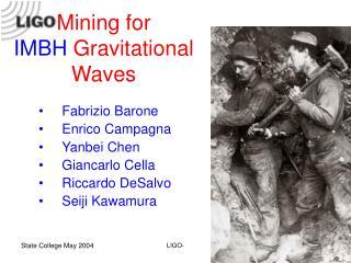 Mining for  IMBH  Gravitational Waves