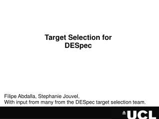 Target Selection for DESpec