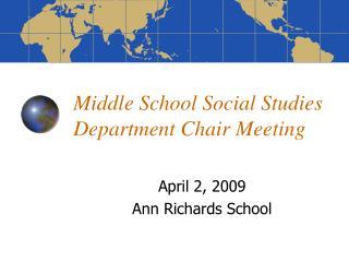 Middle School Social Studies Department Chair Meeting
