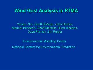 Wind Gust Analysis in RTMA