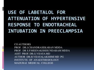 CO AUTHORS PROF.  DR.I.CHANDRASEKARAN MDDA PROF.  DR S.P.MEENAKSHISUNDARAM MDDA