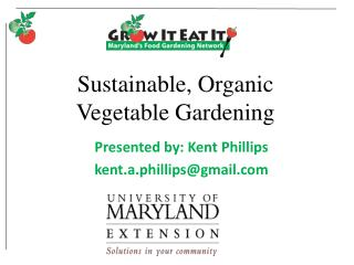Sustainable, Organic Vegetable Gardening