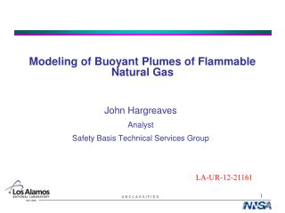 Modeling of Buoyant Plumes of Flammable Natural Gas