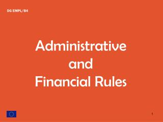 Administrative and Financial Rules