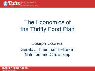 The Economics of the Thrifty Food Plan
