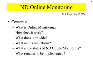 ND Online Monitoring
