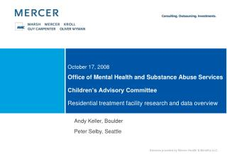 Office of Mental Health and Substance Abuse Services  Children s Advisory Committee   Residential treatment facility res