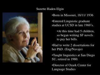 Suzette Haden Elgin