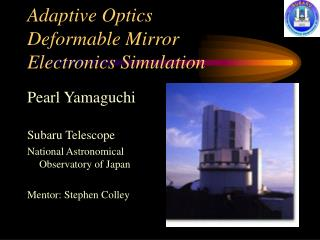 Adaptive Optics  Deformable Mirror  Electronics Simulation