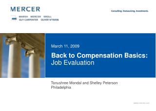 Back to Compensation Basics:  Job Evaluation