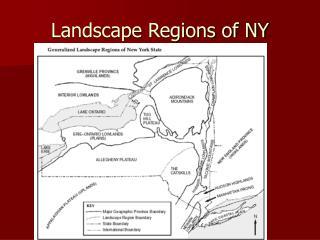 Landscape Regions of NY