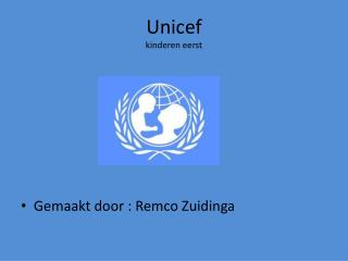 Unicef kinderen eerst