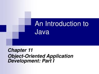 An Introduction to Java