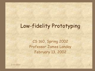 Low-fidelity Prototyping