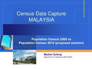 Census Data Capture MALAYSIA