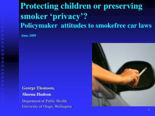 George Thomson,                    Sheena Hudson Department of Public Health,
