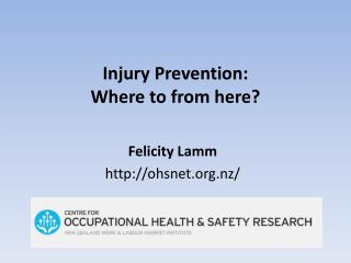 Injury Prevention: Where to from here?