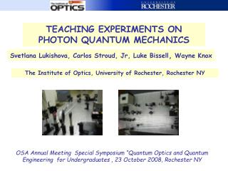 TEACHING EXPERIMENTS ON PHOTON QUANTUM MECHANICS