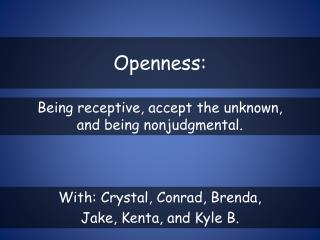 Openness: