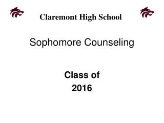 Sophomore Counseling