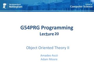 Object Oriented Theory II
