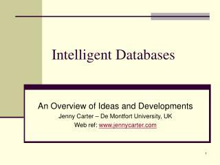 Intelligent Databases
