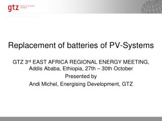 Replacement of batteries of PV-Systems