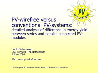 19 th  European Photovoltaic Solar Energy Conference and Exhibition