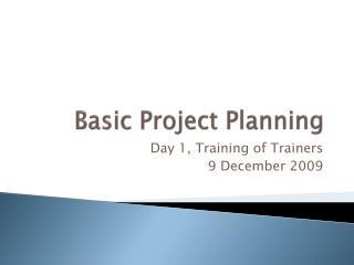 Basic Project Planning