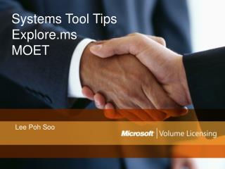 Systems Tool Tips Explore.ms MOET