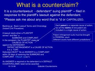 What is a counterclaim?