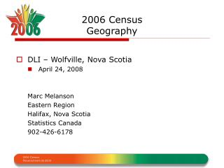 2006 Census  Geography