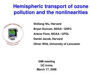 Hemispheric transport of ozone pollution and the nonlinearities