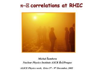 p-X correlations at RHIC