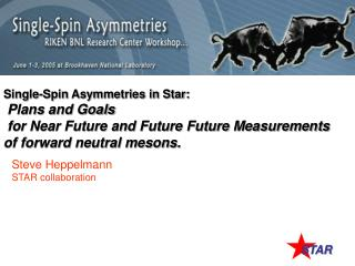 Single-Spin Asymmetries in Star: Plans and Goals  for Near Future and Future Future Measurements