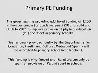 Primary PE Funding