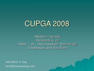 CUPGA 2008