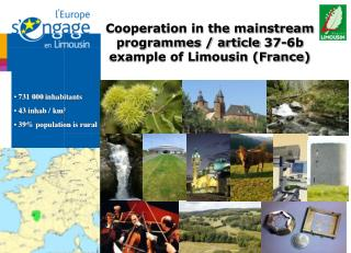 Cooperation in the mainstream programmes / article 37-6b example of Limousin (France) ‏
